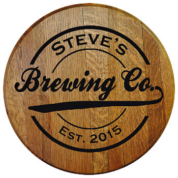 Personalized Brewing Company Barrel Head Sign