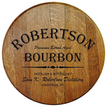 Personalized Barrel Head Sign - Bourbon Distillery
