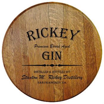 Personalized Barrel Head Sign - Gin Distillery