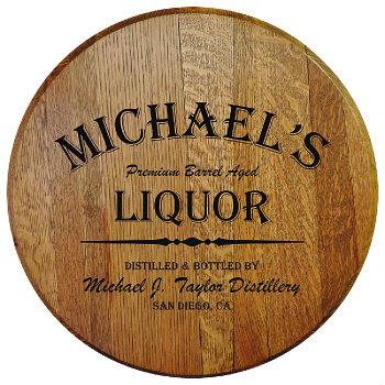 Personalized Barrel Head Sign - Liquor Distillery