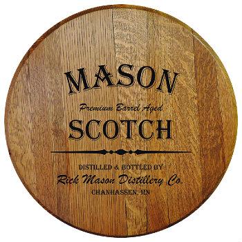 Personalized Barrel Head Sign - Scotch Distillery