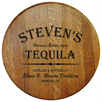 Personalized Barrel Head Sign - Tequila Distillery