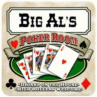 Personalized Poker Room Coasters