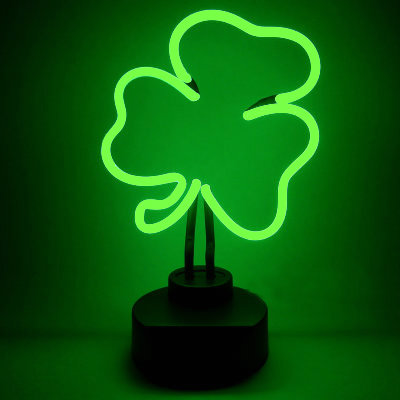 Irish Shamrock Neon Sign