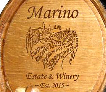 Personalized Tuscan Villa Mini Oak Barrel