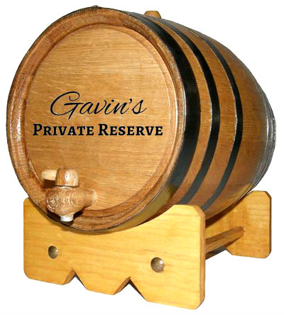 Personalized Private Reserve Small Oak Barrel