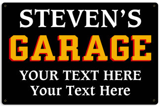 Personalized Garage Metal Sign - Design Your Own Sign