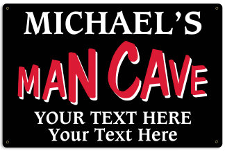 Personalized Man Cave Metal Sign - Design Your Own Sign