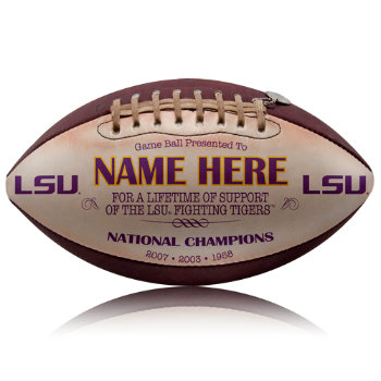 Personalized NCAA Licensed LSU Football - Tigers