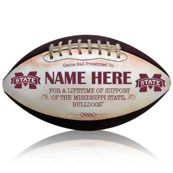 Personalized NCAA Licensed Mississippi State University Football - Bulldogs