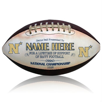 Personalized NCAA Licensed Navy Football - Midshipmen
