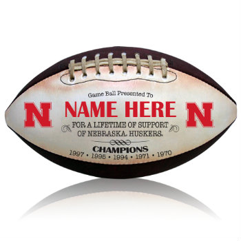 Personalized NCAA Licensed University of Nebraska Football - Huskers