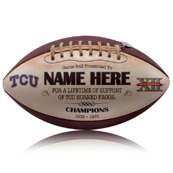 Personalized NCAA Licensed TCU Football - Horned Frogs