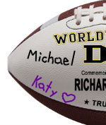 Personalized Football - Father - Sample Signing 1
