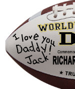 Personalized Football - Dad - Sample Signing 1
