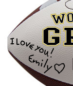 Personalized Football - Grandpa - Sample Signing 1
