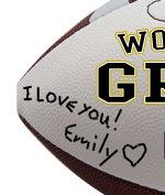 Personalized Football - Grandpa - Sample Signing 1