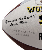 Personalized Football - Son - Sample Signing