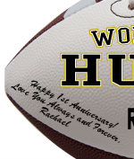Personalized Football - Husband - Sample Signing