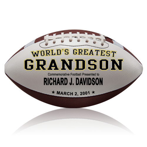Personalized Football - Grandson