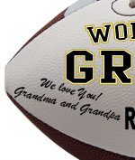 Personalized Football - Grandson - Sample Signing