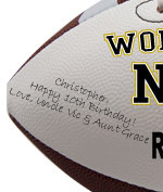 Personalized Football - Nephew - Sample Signing