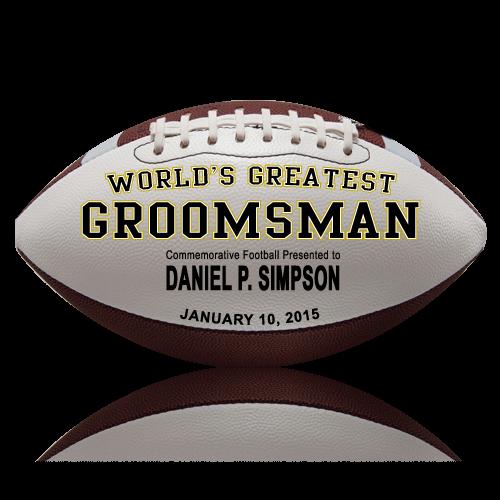 Personalized Groomsman Football - Wedding version