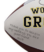 Personalized Groomsman Football - Wedding version - Sample Signing