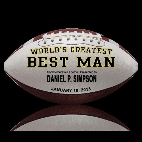 Personalized Best Man Football - Wedding version