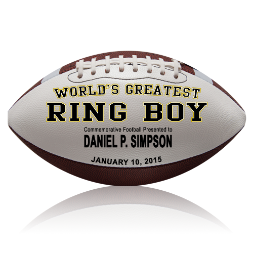 Personalized Ring Boy Football - Wedding version
