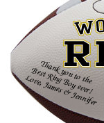 Personalized Ring Boy Football - Wedding version - Sample Signing
