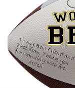 Personalized Best Man Football - Wedding version - Sample Signing