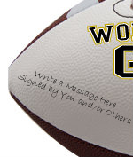 Personalized Groom Football - Wedding version - Sample Signing