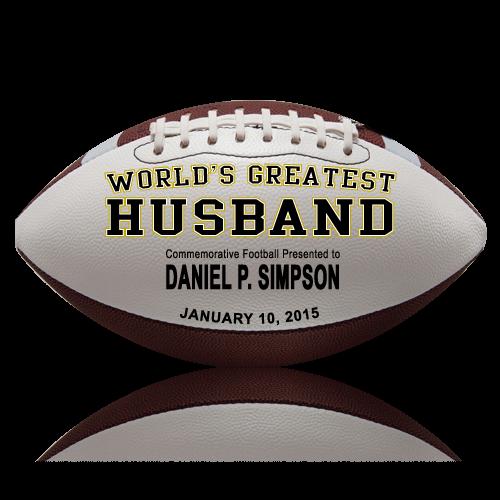 Personalized Husband Football - Wedding version