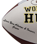 Personalized Husband Football - Wedding version - Sample Signing 1