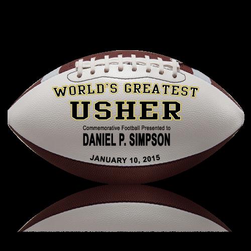 Personalized Usher Football - Wedding version