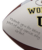 Personalized Usher Football - Wedding version - Sample Signing