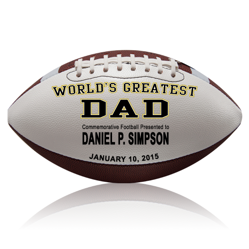 Personalized Dad Football - Wedding version