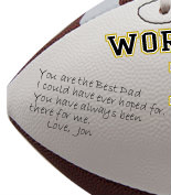 Personalized Dad Football - Wedding version - Sample Signing