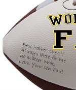 Personalized Father Football - Wedding version - Sample Signing