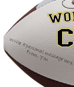 Personalized Couple Football - Sample Signing