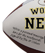 Personalized Newlyweds Football - Wedding version - Sample Signing