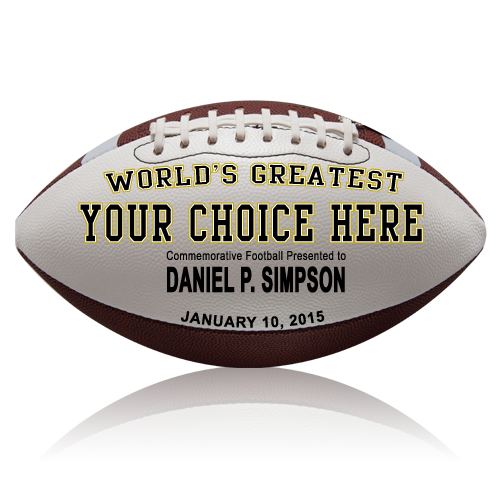 Personalized Football - Your Choice Here - Wedding version