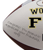 Personalized Football - Your Choice Here - Sample Signing