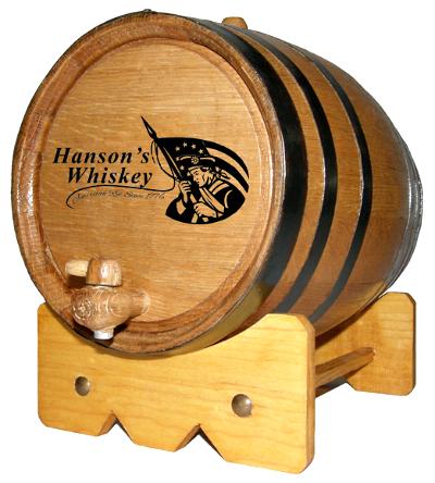 Personalized American Patriot Small Oak Barrel