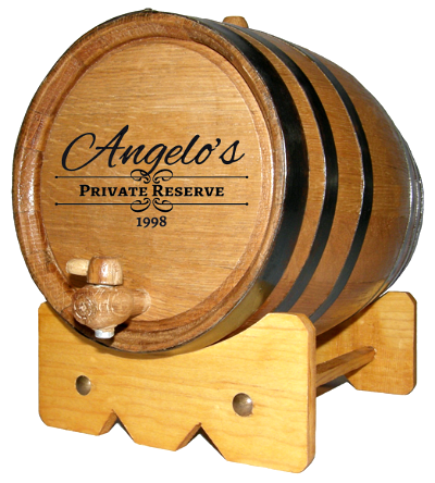 Personalized Private Reserve Small Oak Barrel with Year
