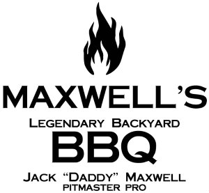 Personalized BBQ Large Cutting Board with Handles - 1 flame - Close Up