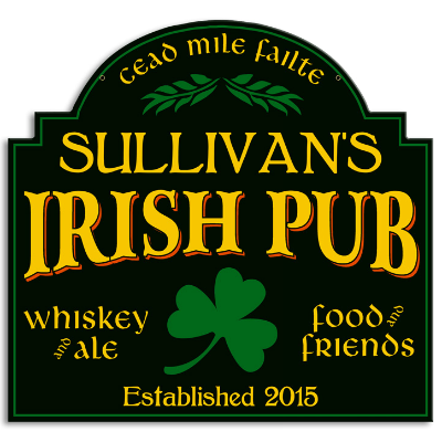 Personalized Irish Pub Metal Sign