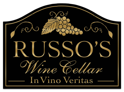 Personalized Wine Cellar Sign - Metal