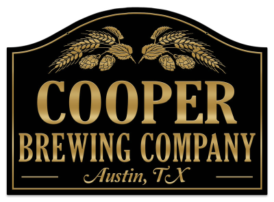 Personalized Brewing Company Sign - Metal
